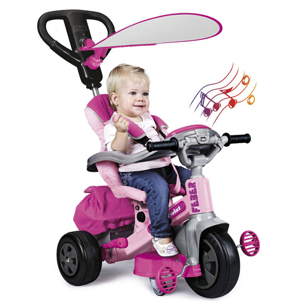 TRICYCLE EVOLUTIF BABY TWIST 360º ROSE